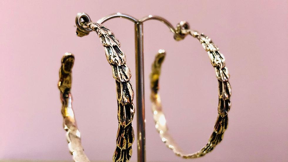 Boucles d'oreilles créoles liane argent