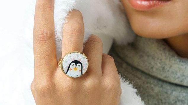 Taratata bague pingouin