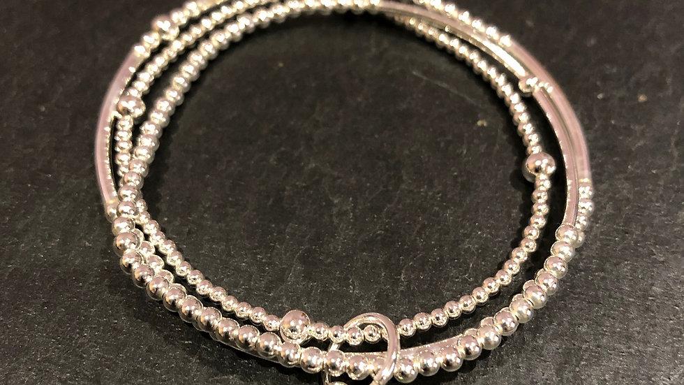 Enomis bracelet trefle argent 925