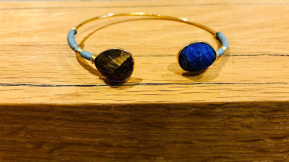 Bracelet Duality serti or  2