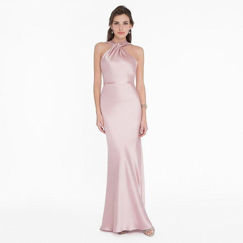 [RENT] Luxurious bias-cut slinky satin column special occasion gown.