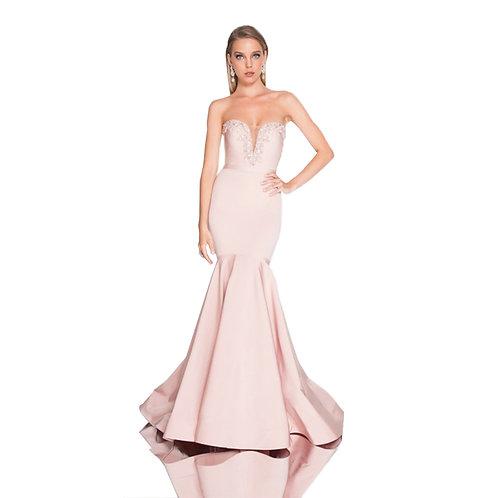 [RENT] Blush Sweetheart Neckline Trumpet Prom Dress