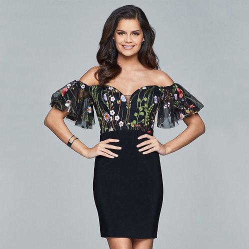 [RENT] Short jersey cocktail dress