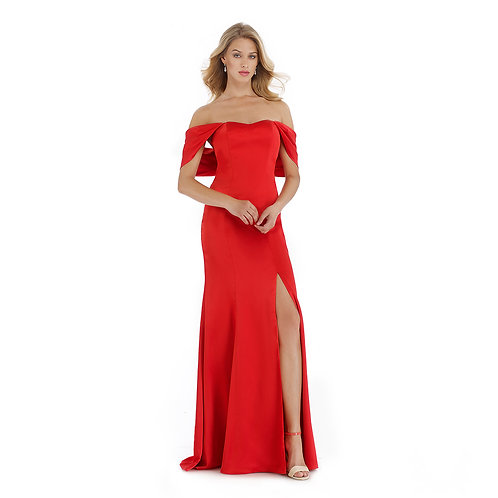 [RENT] SATIN CHARMEUSE RED PROM DRESS