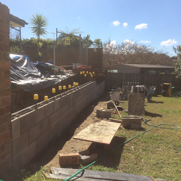 Retaining Wall Rebuild