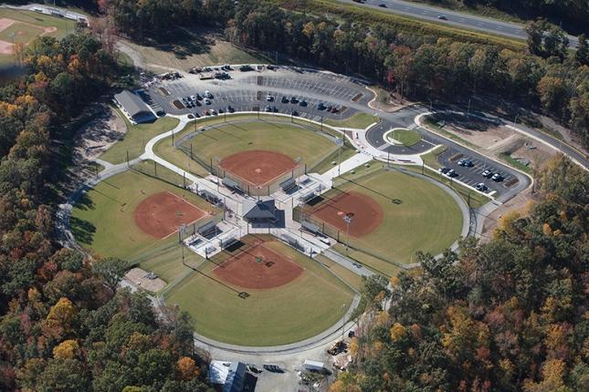 Chichester park Quad-Fields Aerial
