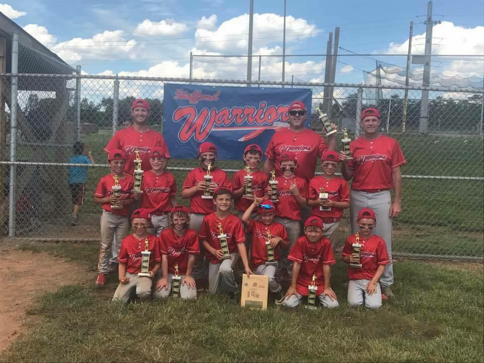 Stafford Warriors 8U Cal Ripken District 8 Champs - Spring 2017