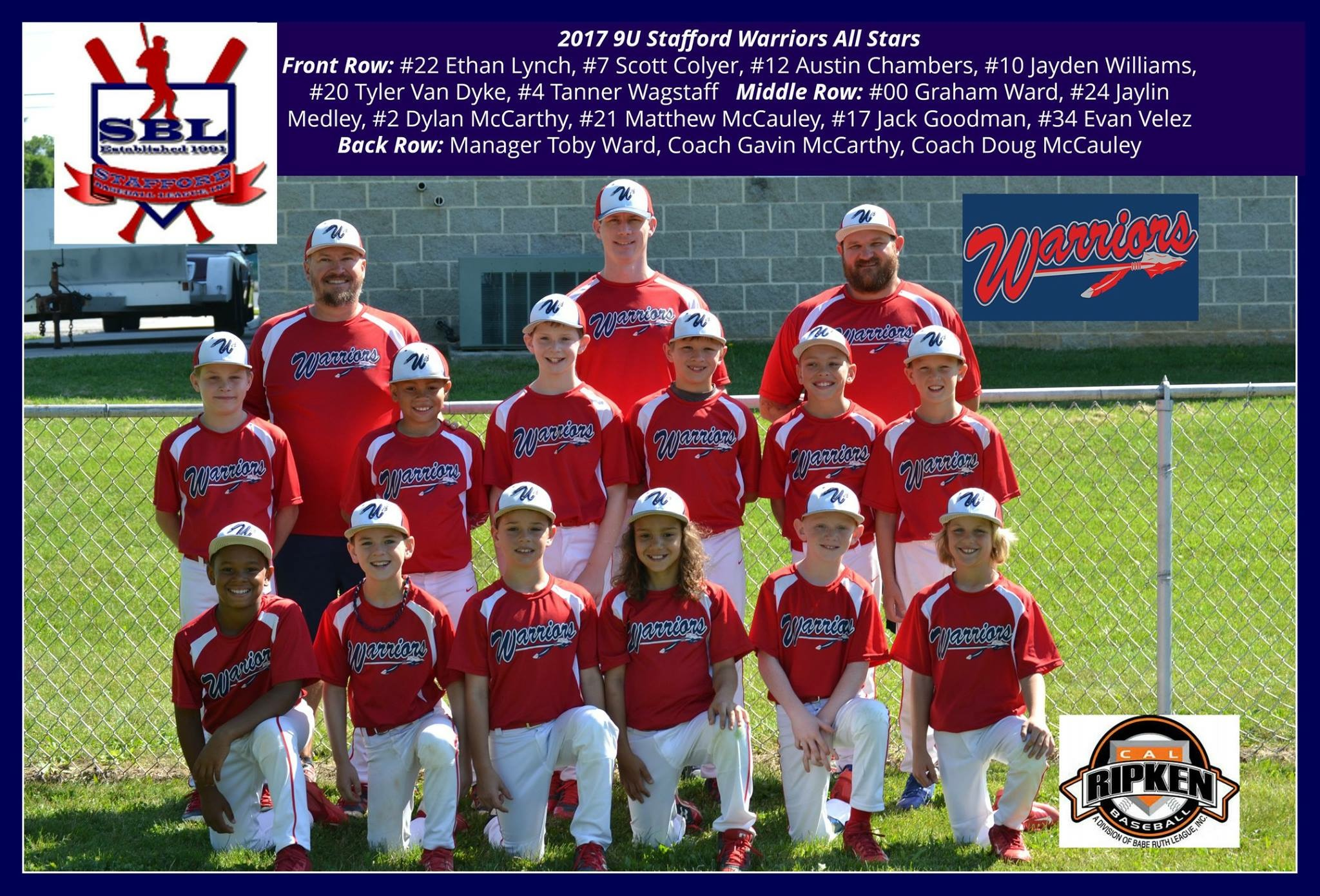 SBL 9U District 8 All-Stars - Spring 2017
