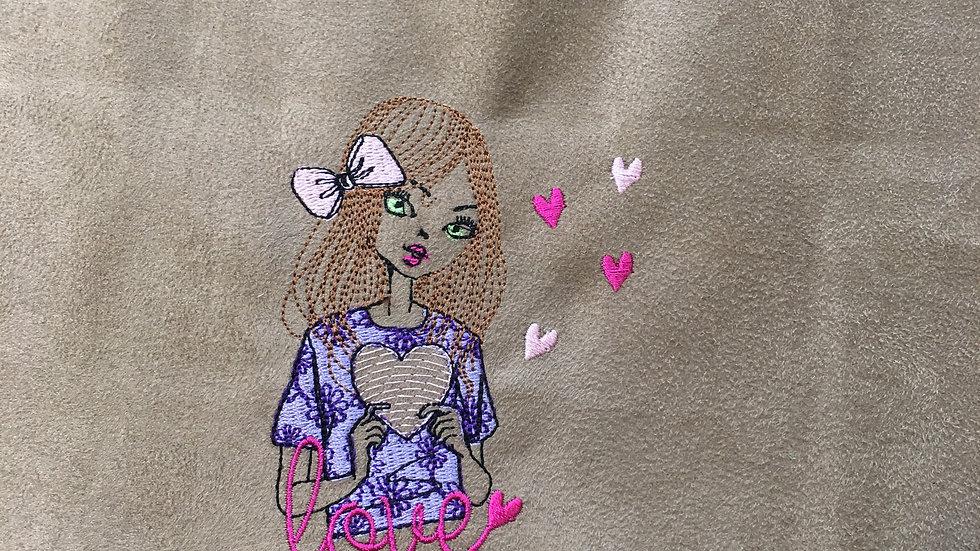 Coupon Brodé Lovely Girl