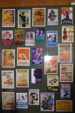 WW2 propaganda posters display