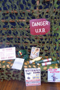 WW2 - unexploded bombs display