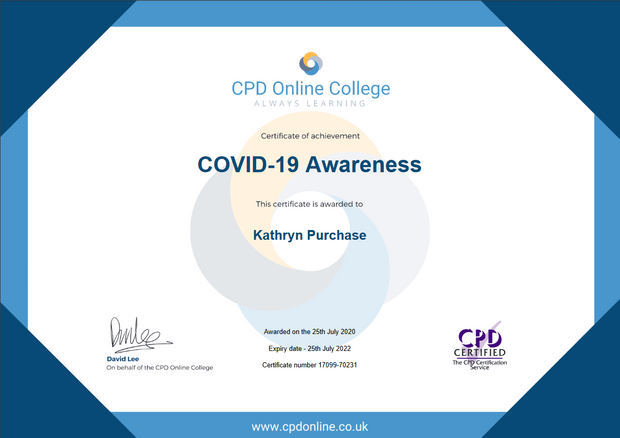 Covid-19 Awareness Course Certificate