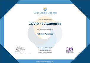 Covid-19 Awareness Course Certificate