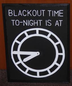 WW2 Blackout Clock