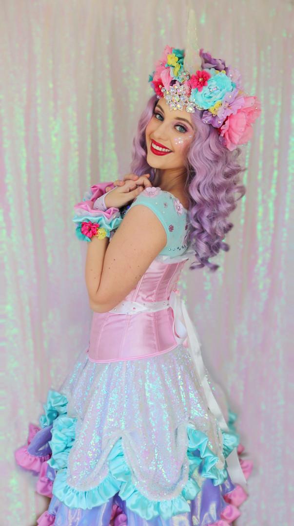 Violet Rainbow Unicorn Princess