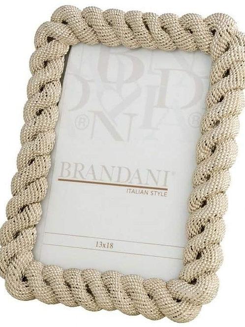 BRANDANI Portafoto Treccia Champagne Poliresina INT.13X18