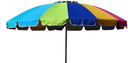 Joy Summer Ombrellone Alluminio Spiaggia Mare Giardino Arcobaleno 240 cm 16 Stec