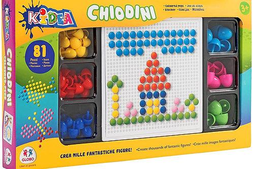 Globo- Gioco Chiodini, Multicolore, Globo-37636