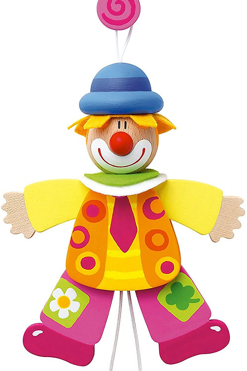 Sevi 82056 - Burattino Clown Cravatta, 14 cm