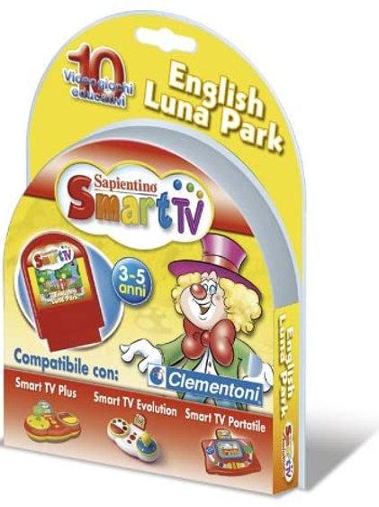 Clementoni 12338 - Cartuccia Smart Tv English Luna Park