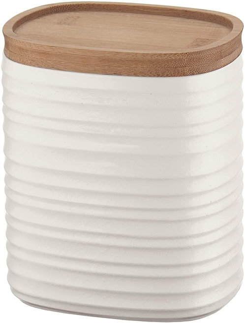 Guzzini Tierra Barattolo, Post Consumed Recycled Poliestereastic, Bamboo, Bianco