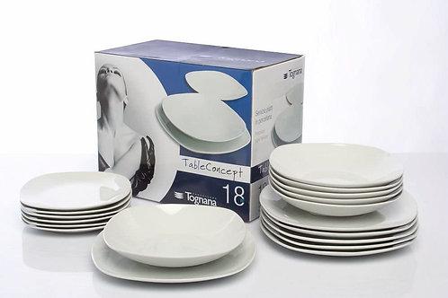 Tognana Servizio Splendor 18 Pezzi, Porcellana, Lavabile in lavastoviglie