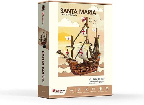 Puzzle 3D Barca Santa Maria 93 pezzi