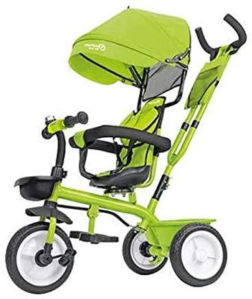 Globo Triciclo in Metallo a Pedali con Parasole Verde