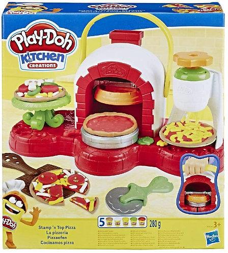 Hasbro Play-Doh-La Pizzeria (playset con 5 vasetti di pasta da modellare)