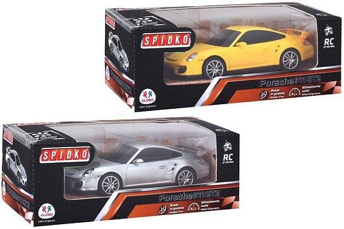 Globo- R/C Porsche 911 Gt2 Scala 1:24 Full Function 2 Collo (39144), Multicolore