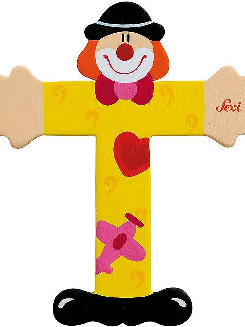 Trudi Sevi 81756 Lettera T Clown, colori assortiti