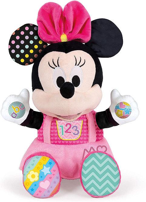 Clementoni- Disney Baby Minnie Gioca e Impara Peluche Parlante, Multicolore