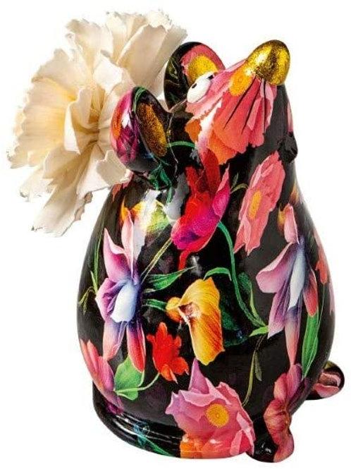 Brandani 53756 Diffusore Di Fragranza Topo Porcellana Con Fiore In Carta