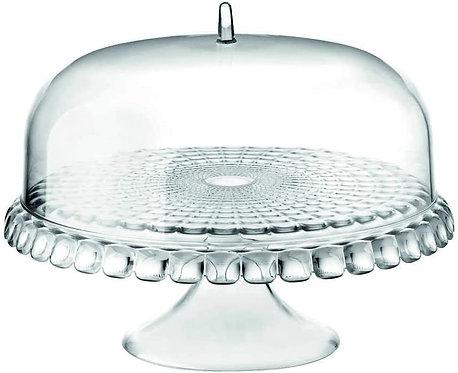 Guzzini Alzata con Campana Piccola Tiffany, Trasparente, Ø30 x h27 cm