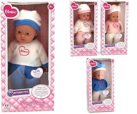 Globo Giocattoli 37379 41 cm 4 Assortiti Bimbo Crying Doll