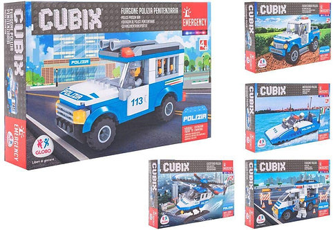 Globo - Costruzione Police Vehicles 5Asstd (38246), Multicolore (1)