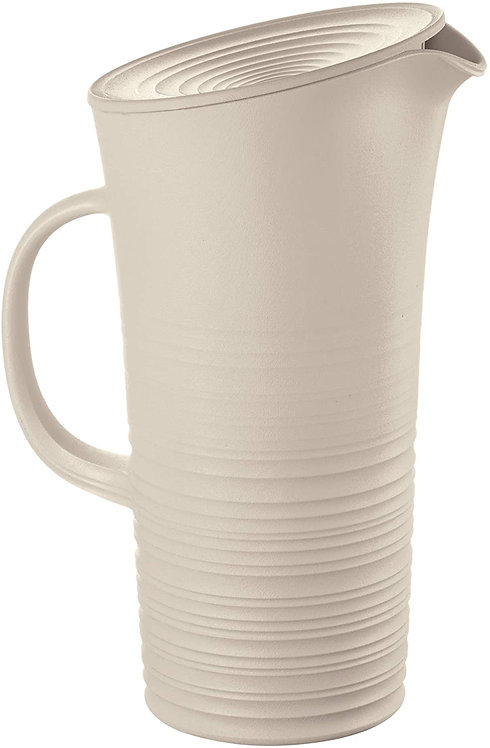 Guzzini Tierra Caraffa con Coperchio, Post Consumed Recycled Poliestereastic