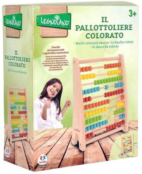 GLOBO - Pallottoliere In Legno 100 Grani (38912), Multicolore (1)
