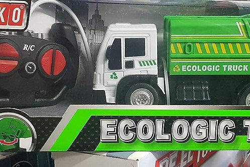Globo-R/C Camion Spazzatura Scala 1:24 C/Luci 27Mh, Multicolore