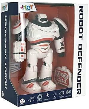 Globo B/O I/R Robot 33 cm 5 funzioni W/L/S 8 Bullet 2 Collo (39017), Multicolore