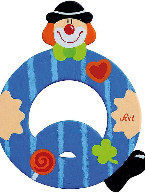 Trudi Sevi 81753 - Lettera Q Clown, Colori Assortiti, 1 pezzo