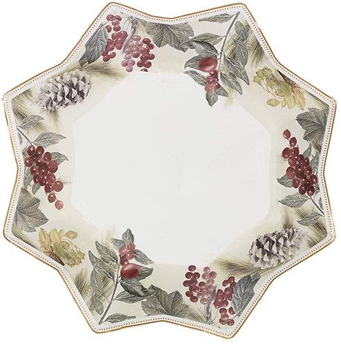 Brandani 53655 Vuotatasche Sottobosco Porcellana 24x24x3,5h cm