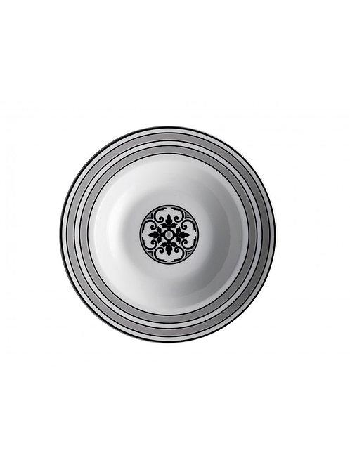 Brandani 53209 Alhambra servizio da tavola 18 piatti, porcellana, multicolore