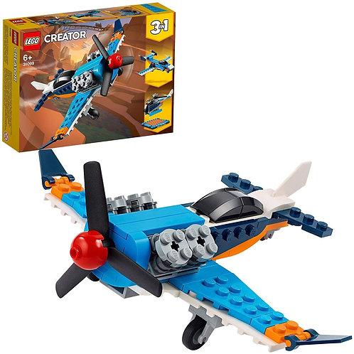 LEGO Creator In, Aereo a Elica, Set di Costruzioni Ricco di Dettagli, 31099