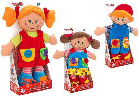 Globo- Doll Imbottitura cm38 3asstd (05357), Multicolore (1)