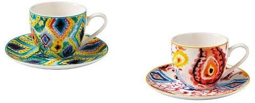BRANDANI 52121 TAZZINA Caffe Samba Set 2 PZ New Bone China