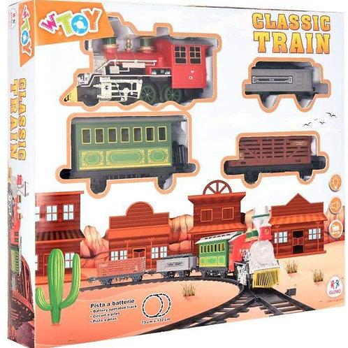 Globo - B/O Train W/Light/Sound/Tracks 20 Pezzi (38959), Multicolore (1)