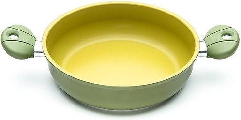 ILLA OL6528 Tegame Due Maniglie Antiaderente all'Olio D'Oliva 100% Made in Italy