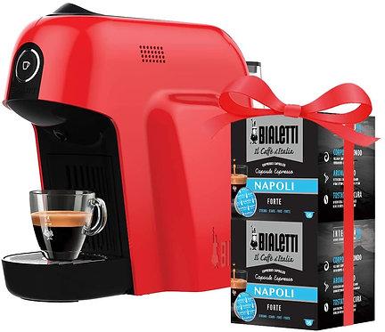 Bialetti Macchina Caffè Espresso Smart per Capsule in Alluminio sistema Bialetti