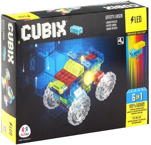 Cubix- Costruzioni con Luci Mezzi, 76 Pezzi, Colore Trasparente, 38331